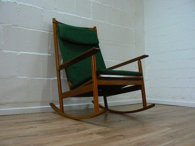 Attractive Mid Century Rocking Chair By Hans Olsen For Juul Kristensen, 1963 For Sale  At Pamono