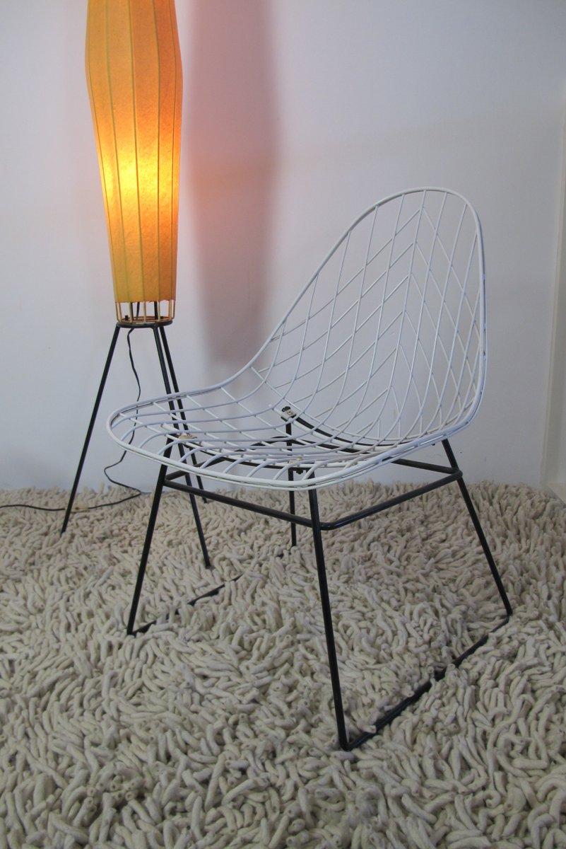Lounge stuhl aus draht von cees braakman f r pastoe bei for Design stuhl draht