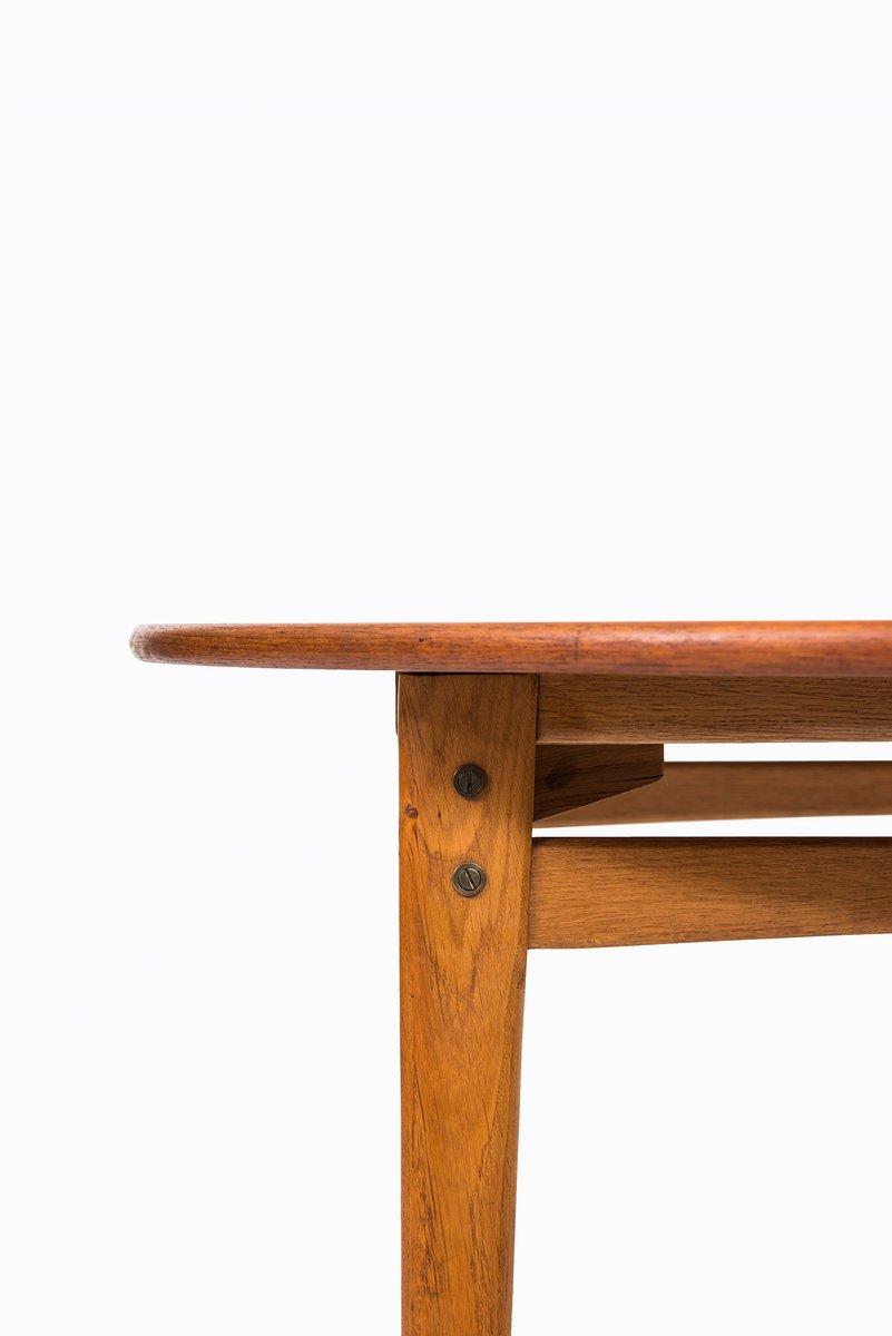 ausziehbarer teak und eichen esstisch bei pamono kaufen. Black Bedroom Furniture Sets. Home Design Ideas