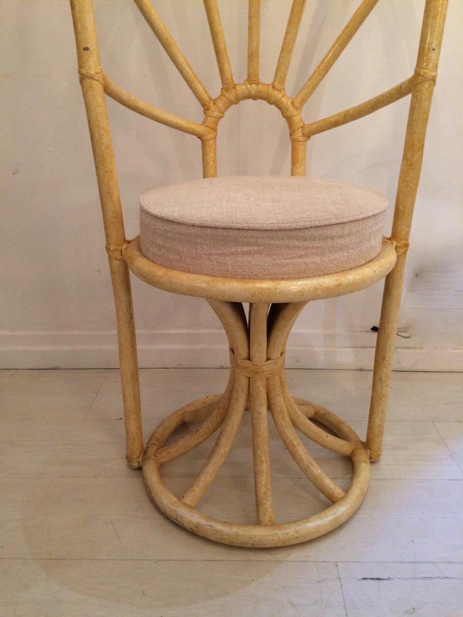italienische st hle aus bambusholz 1970 2er set bei pamono kaufen. Black Bedroom Furniture Sets. Home Design Ideas