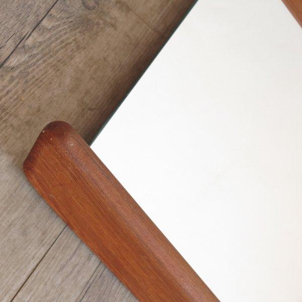 skandinavischer vintage wandspiegel mit teakholz rahmen bei pamono kaufen. Black Bedroom Furniture Sets. Home Design Ideas