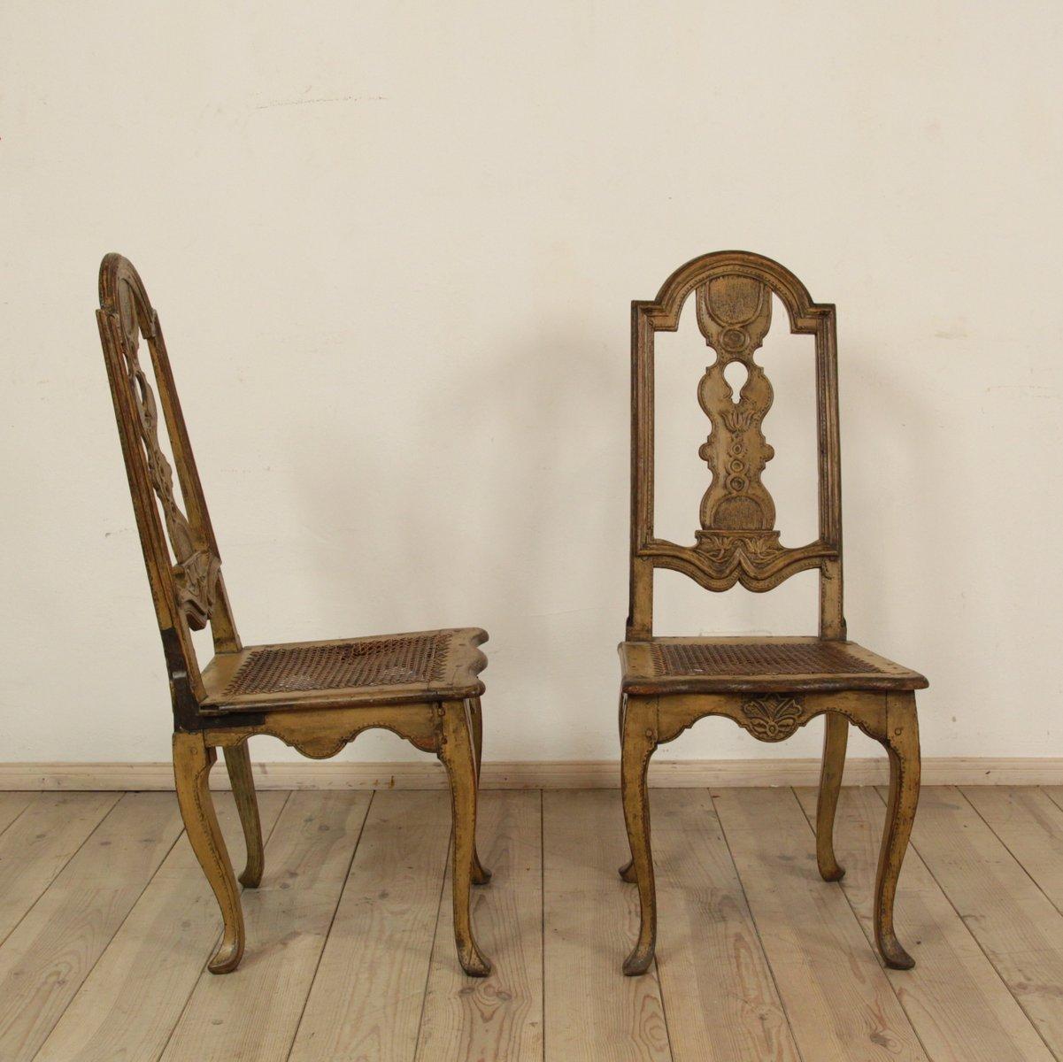 Antique Swedish Baroque Chairs, Set of 2 - Antique Swedish Baroque Chairs, Set Of 2 For Sale At Pamono