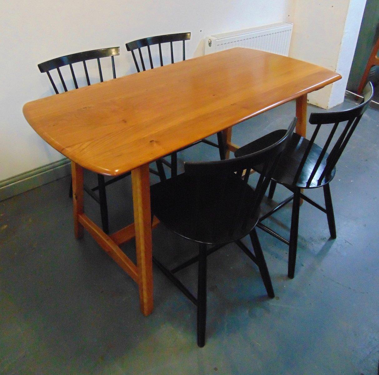 esstisch aus ulmenholz von ercol 1950er bei pamono kaufen. Black Bedroom Furniture Sets. Home Design Ideas