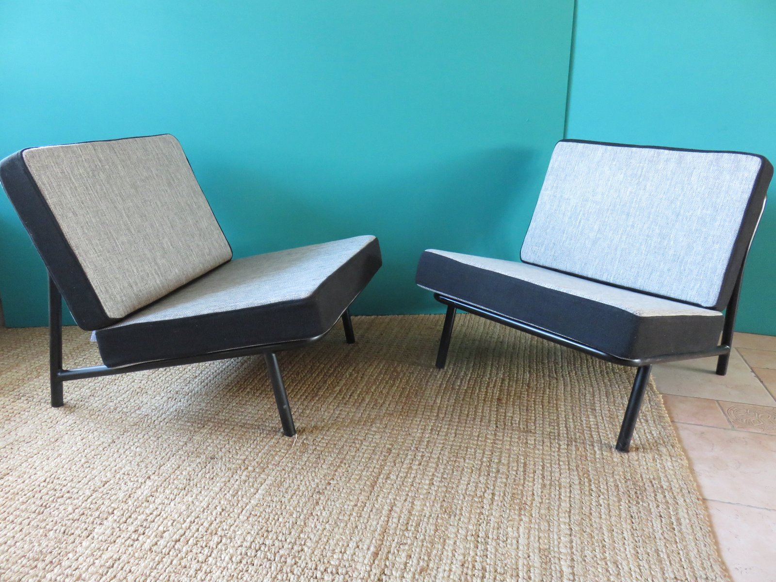 italienische clubsessel 2er set 1950er bei pamono kaufen. Black Bedroom Furniture Sets. Home Design Ideas