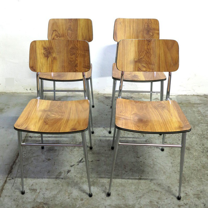 mid century esszimmergarnitur 1960er 5er set bei pamono kaufen. Black Bedroom Furniture Sets. Home Design Ideas