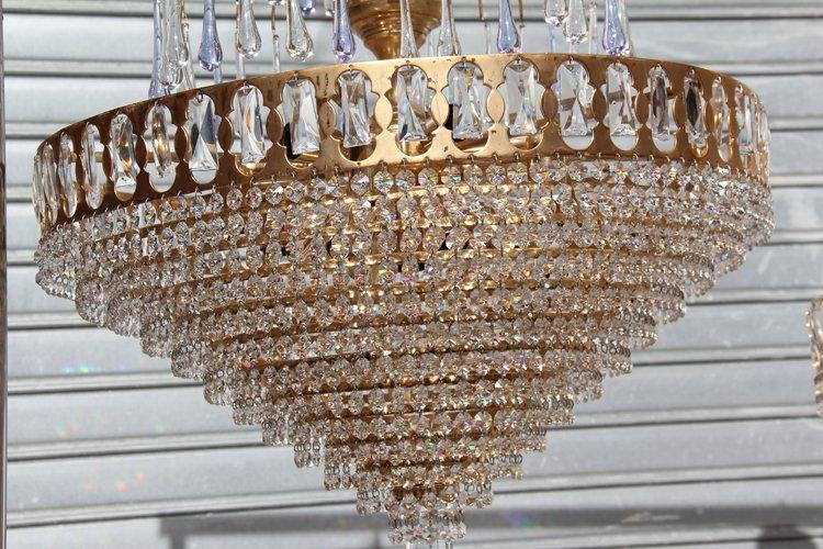 Lampadari vintage in cristallo anni 39 70 set di 2 in for Lampadari vintage