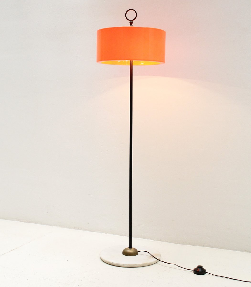 Italian floor lamp with orange shade 1960s for sale at pamono italian floor lamp with orange shade 1960s mozeypictures Image collections