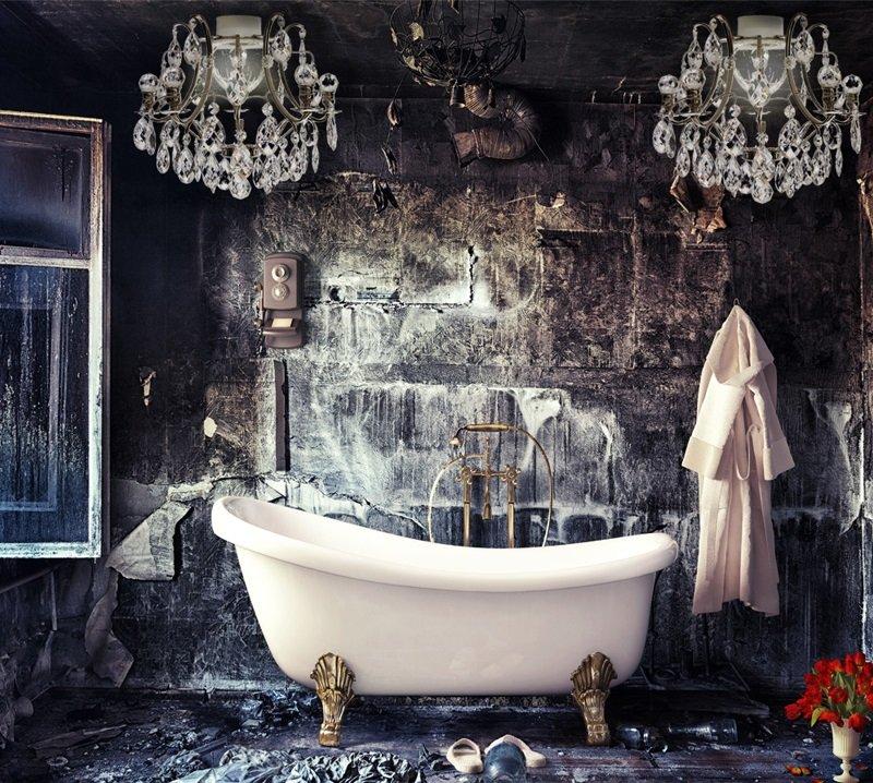 schwedischer chrom badezimmer kronleuchter mit bleikristallen 1980er bei pamono kaufen. Black Bedroom Furniture Sets. Home Design Ideas