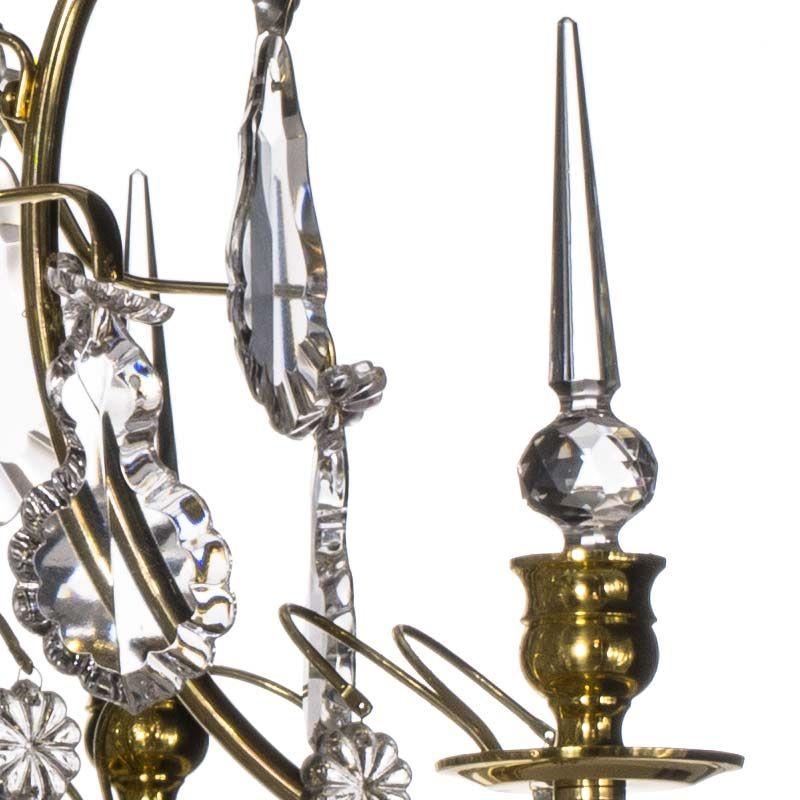 schwedischer vintage messing und kristall kronleuchter bei pamono kaufen. Black Bedroom Furniture Sets. Home Design Ideas