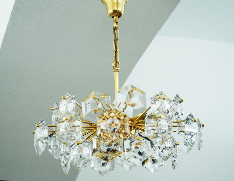 Kinkeldey hexagon crystal glass chandelier en venta en pamono kinkeldey hexagon crystal glass chandelier imagen 12 180100 aloadofball Choice Image