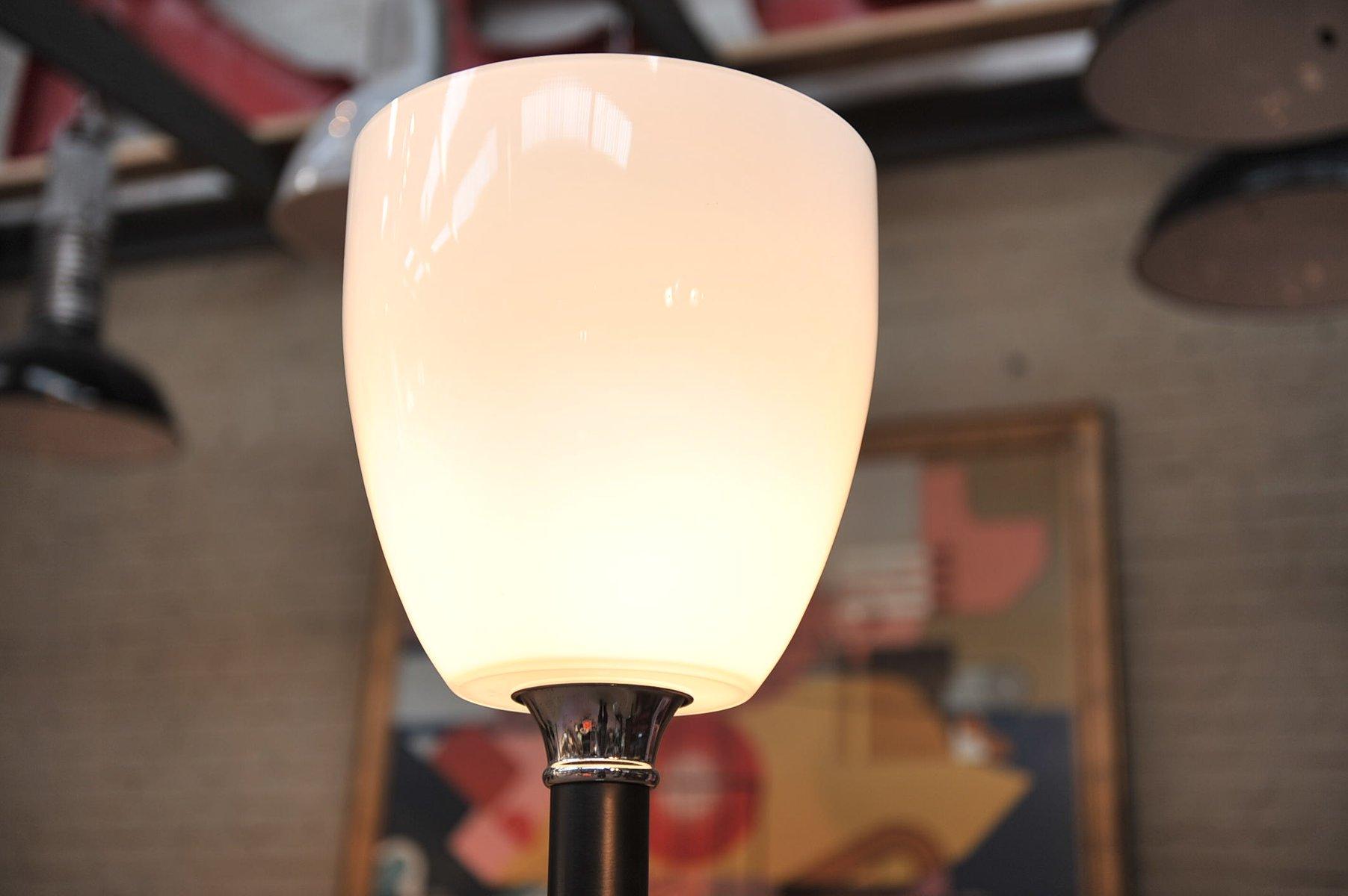 franz sische stehlampe mit glas lampenschirm 1960er bei. Black Bedroom Furniture Sets. Home Design Ideas