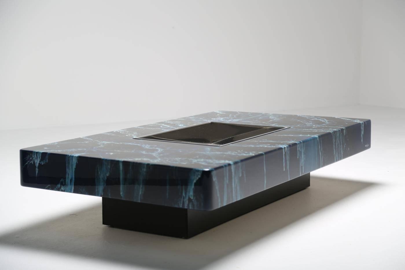 table basse en bois laqu par willy rizzo en vente sur pamono. Black Bedroom Furniture Sets. Home Design Ideas