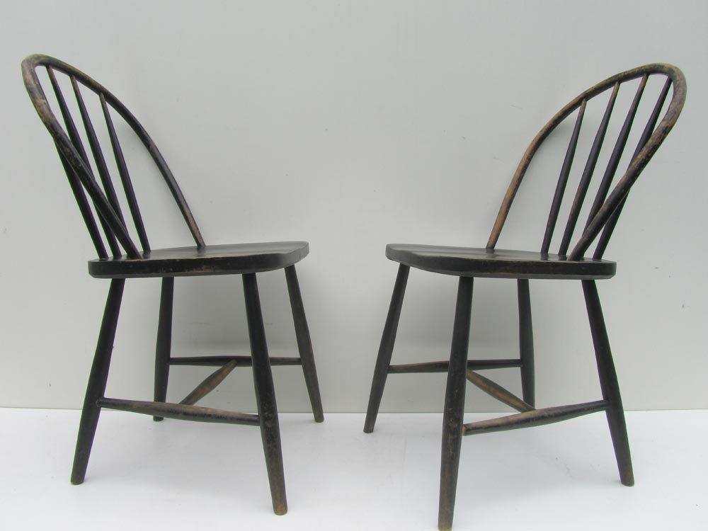 vintage holz esszimmerst hle 4er set bei pamono kaufen. Black Bedroom Furniture Sets. Home Design Ideas