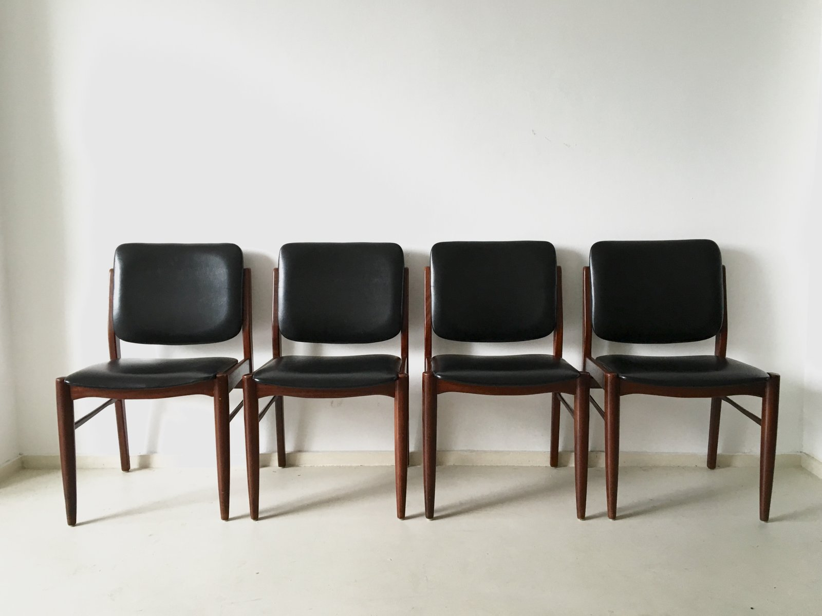 Vintage Danish Dining Chairs 1960s Set Of 4