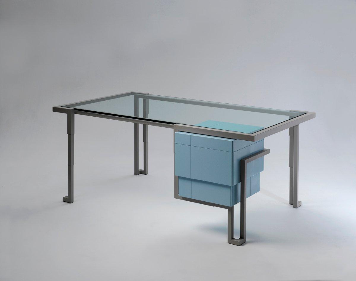 Modell island 3 schreibtisch von kranen gille bei pamono for Schreibtisch 2 meter lang