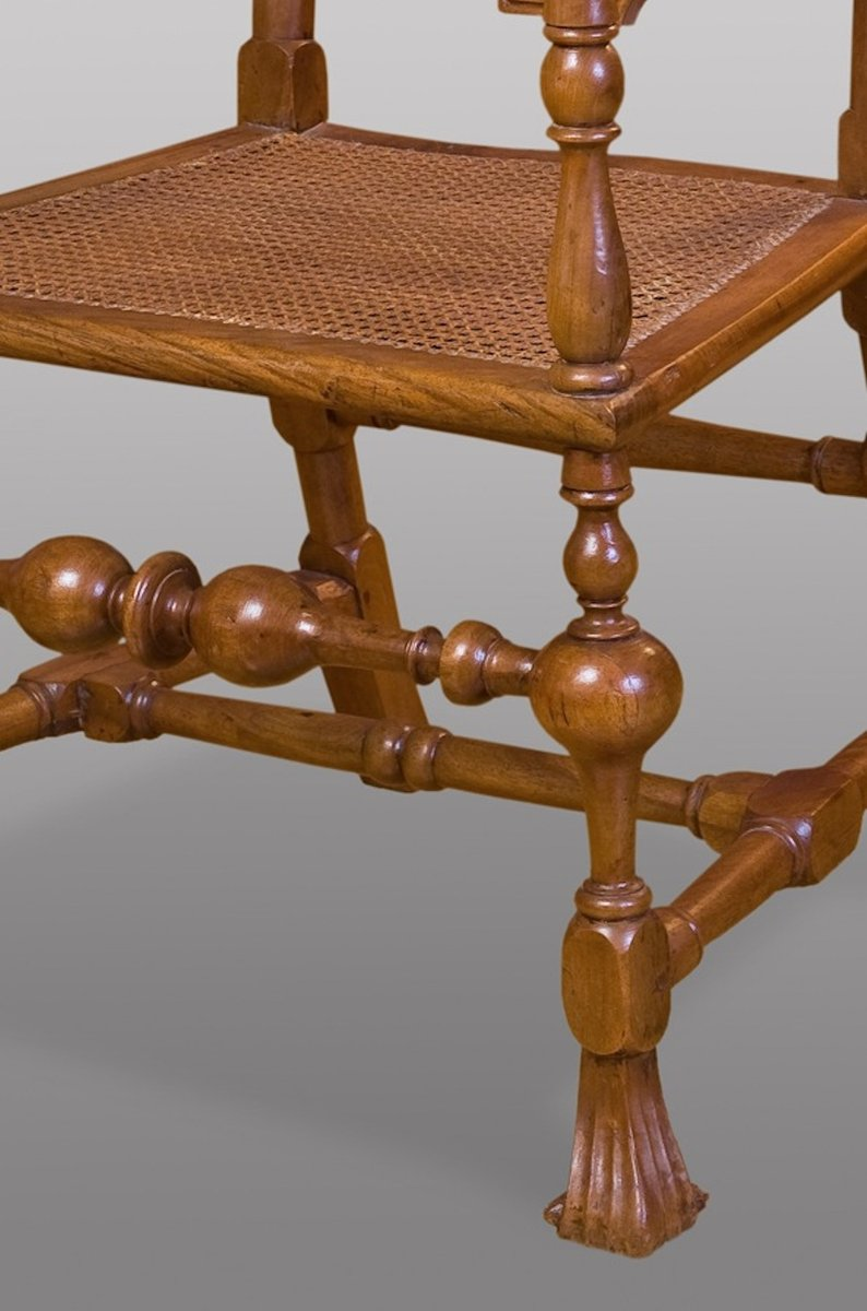 Price per set - Antique Spanish Carved Walnut Armchair, 17th Century For Sale At Pamono