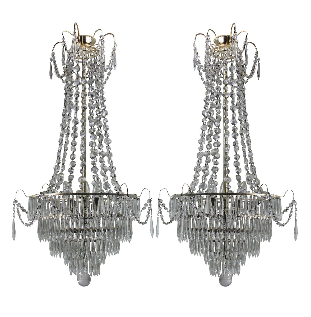 Swedish chandeliers 1930s set of 2 for sale at pamono swedish chandeliers 1930s set of 2 arubaitofo Image collections