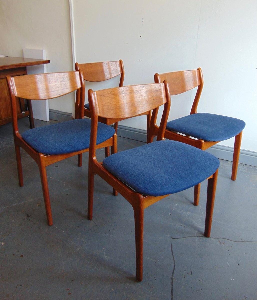 Vintage Teak Dining Chairs By PE Jorgensen For Farso Stolefabrik Set Of 4 Sale At Pamono