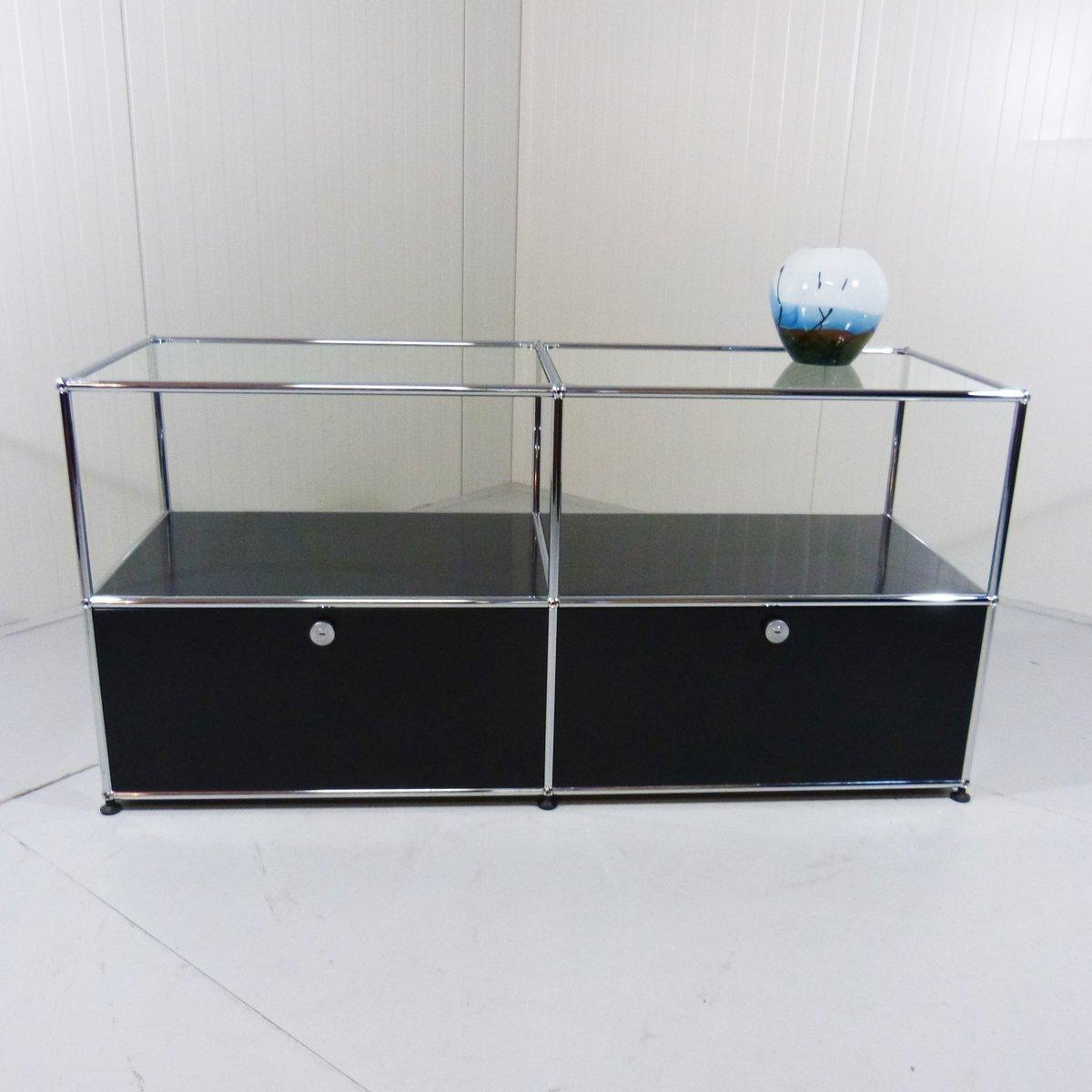 modular sideboard system by fritz haller for usm haller for sale at pamono. Black Bedroom Furniture Sets. Home Design Ideas