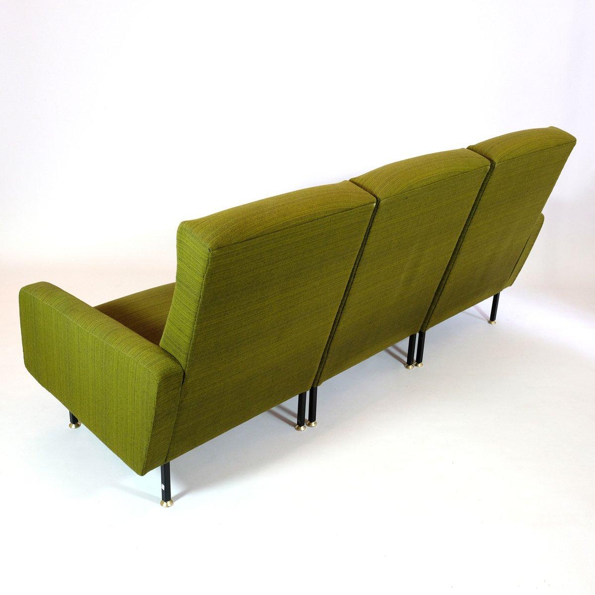 gr nes franz sisches modular sofa von steiner bei pamono kaufen. Black Bedroom Furniture Sets. Home Design Ideas