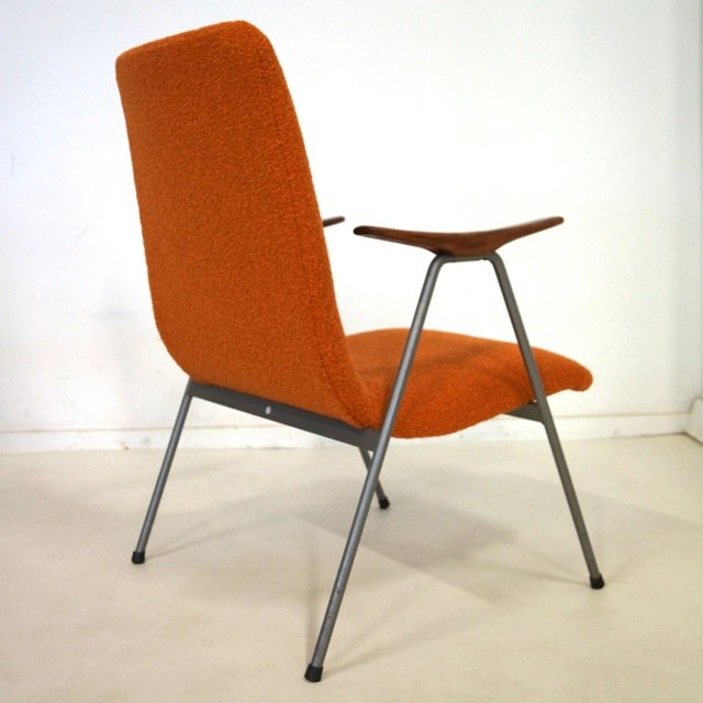 Vintage dutch easy chair with wooden armrests for sale at for Dutch design chair uk
