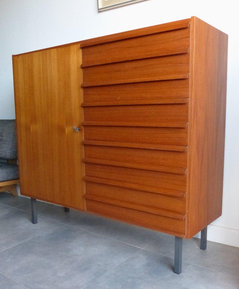 d nischer vintage schrank mit 9 schubladen 1950er bei pamono kaufen. Black Bedroom Furniture Sets. Home Design Ideas