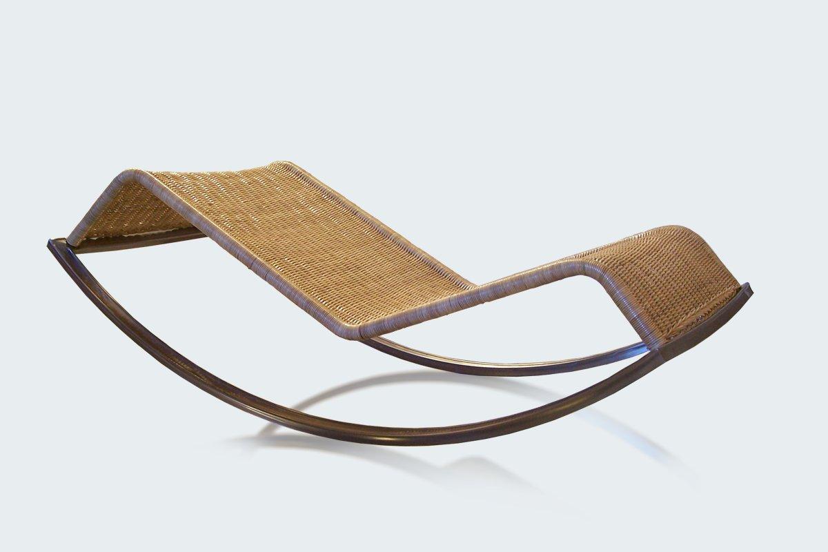 Chaise longue bascule siesta par luis ram rez en vente for Chaise longue siesta