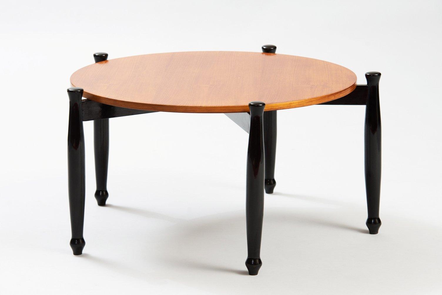italienischer moderner couchtisch mit ebonisierten tischbeinen bei pamono kaufen. Black Bedroom Furniture Sets. Home Design Ideas