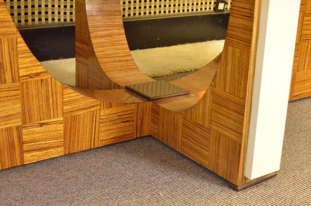 ovaler italienischer art deco esstisch aus zebrano holz 1930 bei pamono kaufen. Black Bedroom Furniture Sets. Home Design Ideas