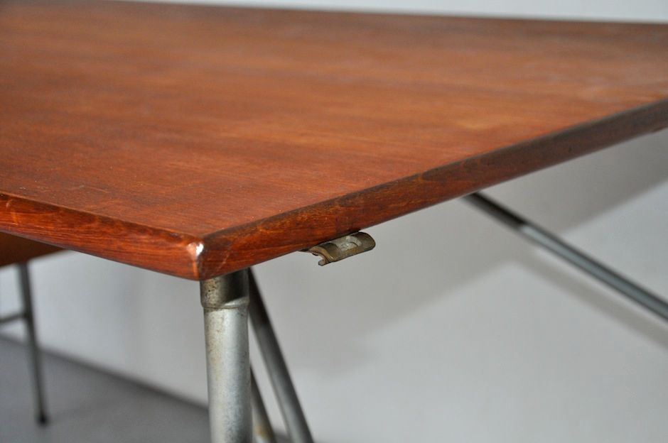 teak und metall schreibtisch von b rge mogensen f r s borgs m belfabrik 1952 bei pamono kaufen. Black Bedroom Furniture Sets. Home Design Ideas