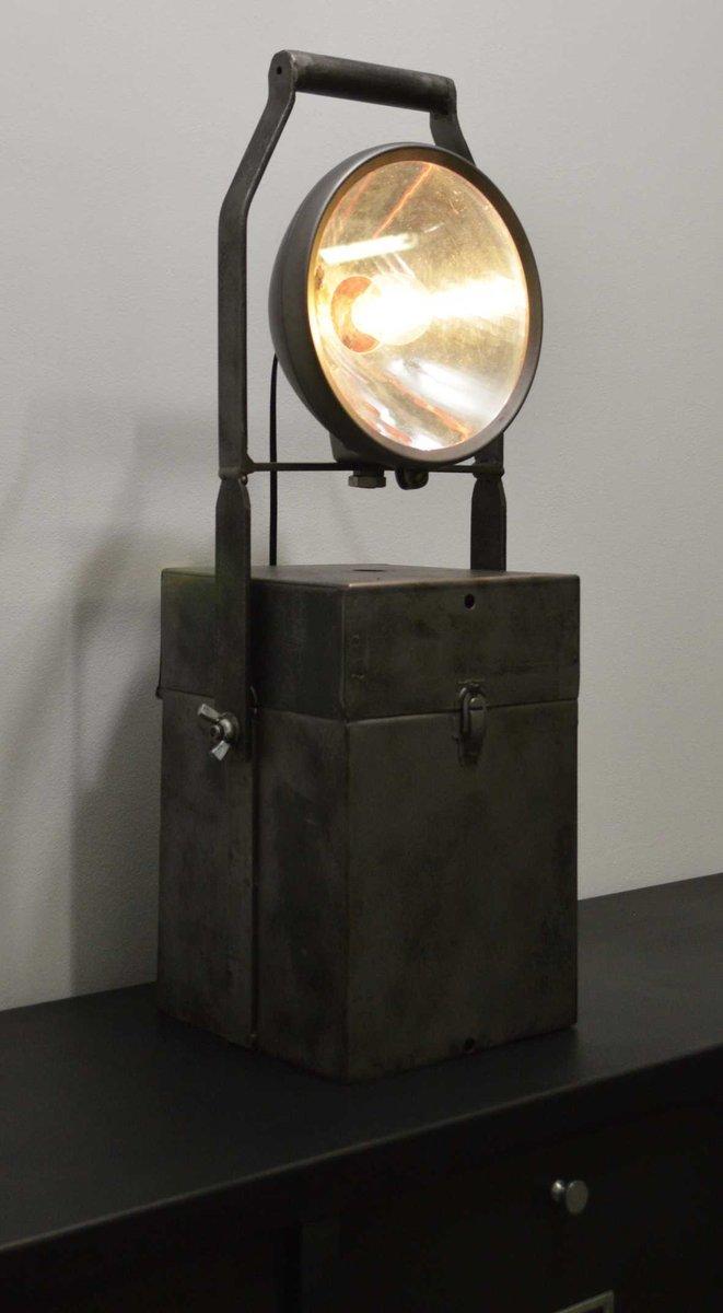 Tragbare industrielle vintage lampe bei pamono kaufen - Lampe vintage industrielle ...