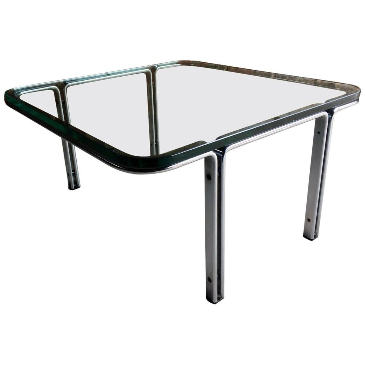 Model T111 Square Steel U0026 Glass Coffee Table By Horst Brüning For Kill  International, 1960s