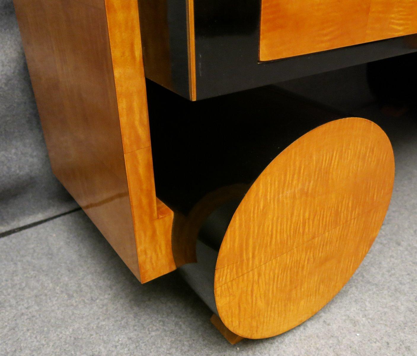 Art Deco Kommode Aus Ahornholz Holz.