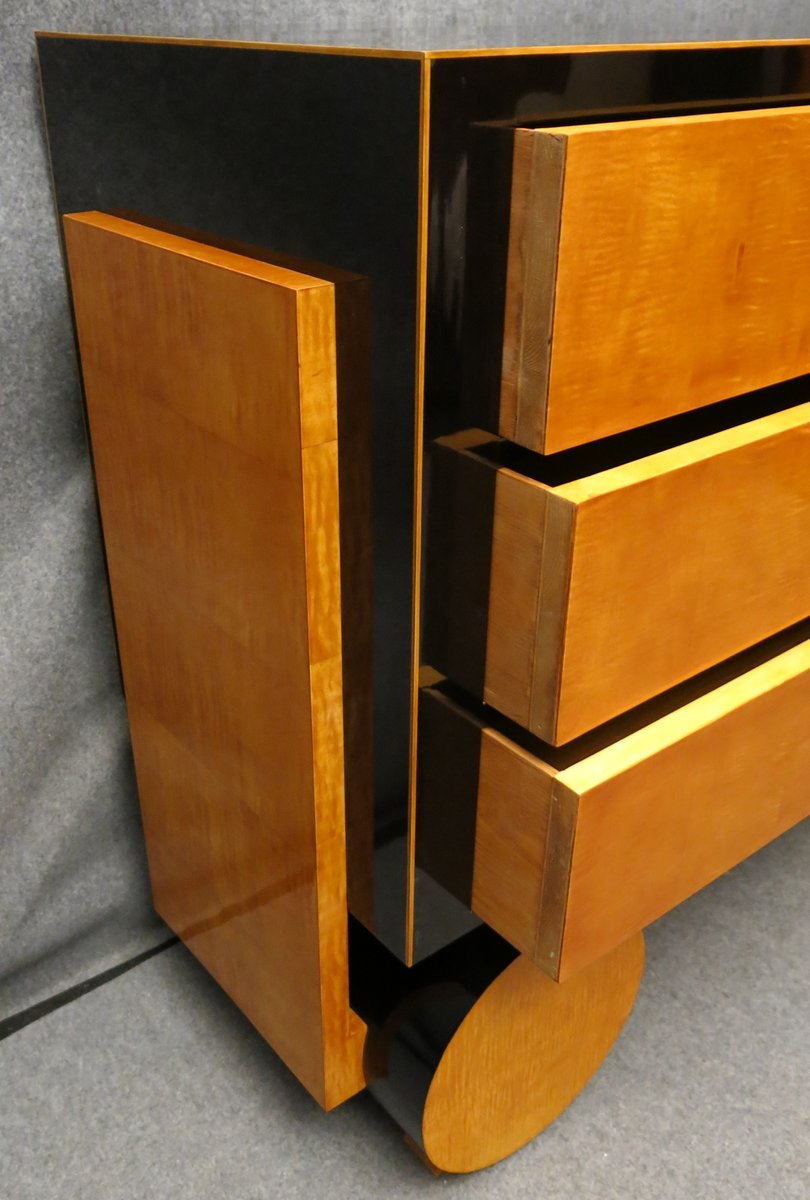 art deco kommode aus ahornholz ebonisiertem holz bei pamono kaufen. Black Bedroom Furniture Sets. Home Design Ideas