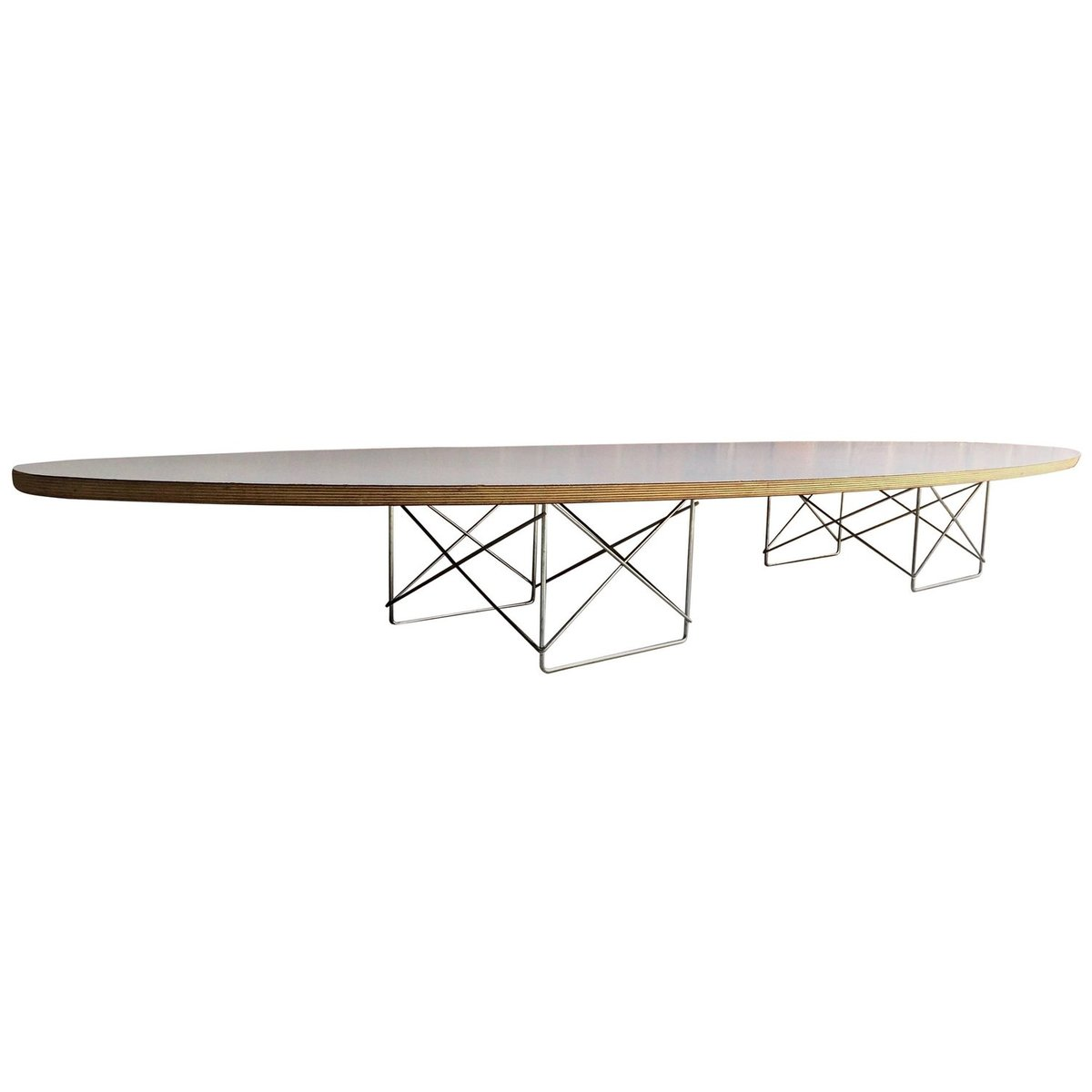 Exceptional Vintage Elliptical Coffee Table By Charles U0026 Ray Eames For Herman Miller,  1980s