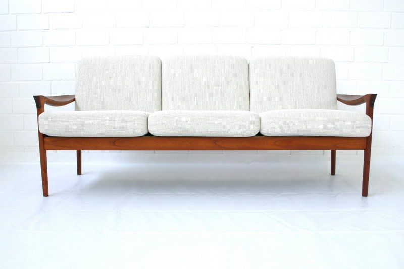 d nisches teakholz sofa von niels eilersen 1960er bei pamono kaufen. Black Bedroom Furniture Sets. Home Design Ideas