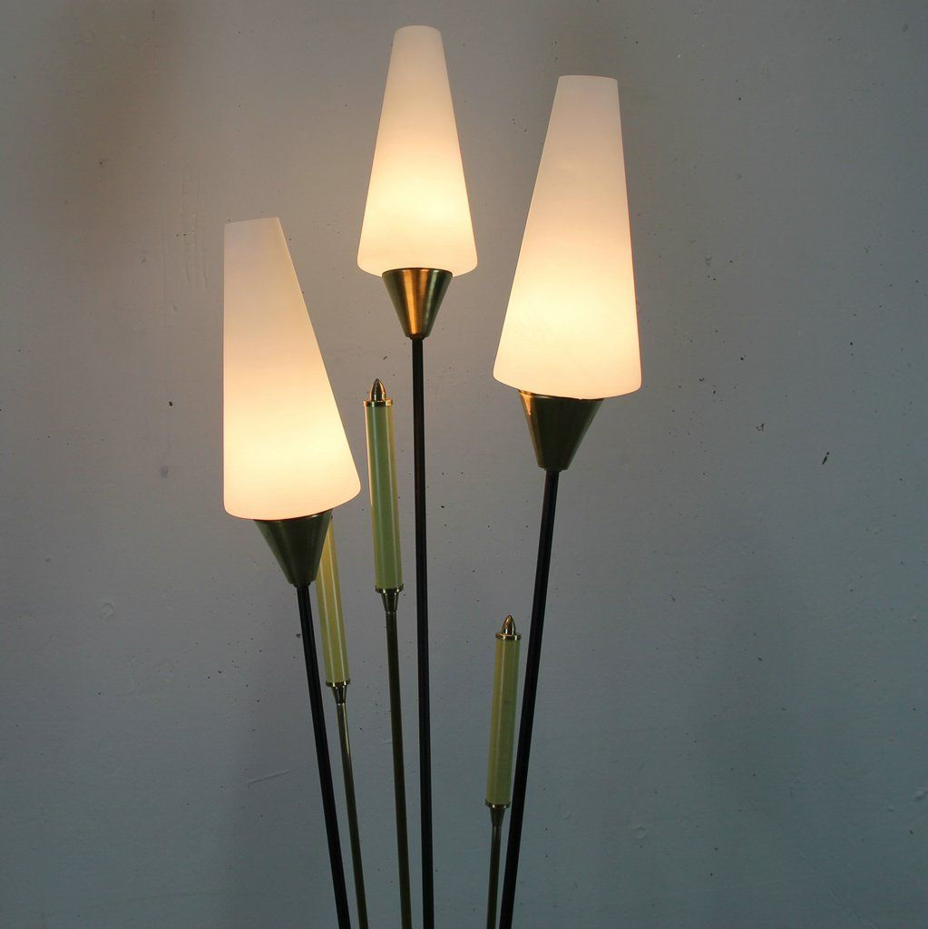 French floor lamp with opaline shades 1950s for sale at for Floor in french translation