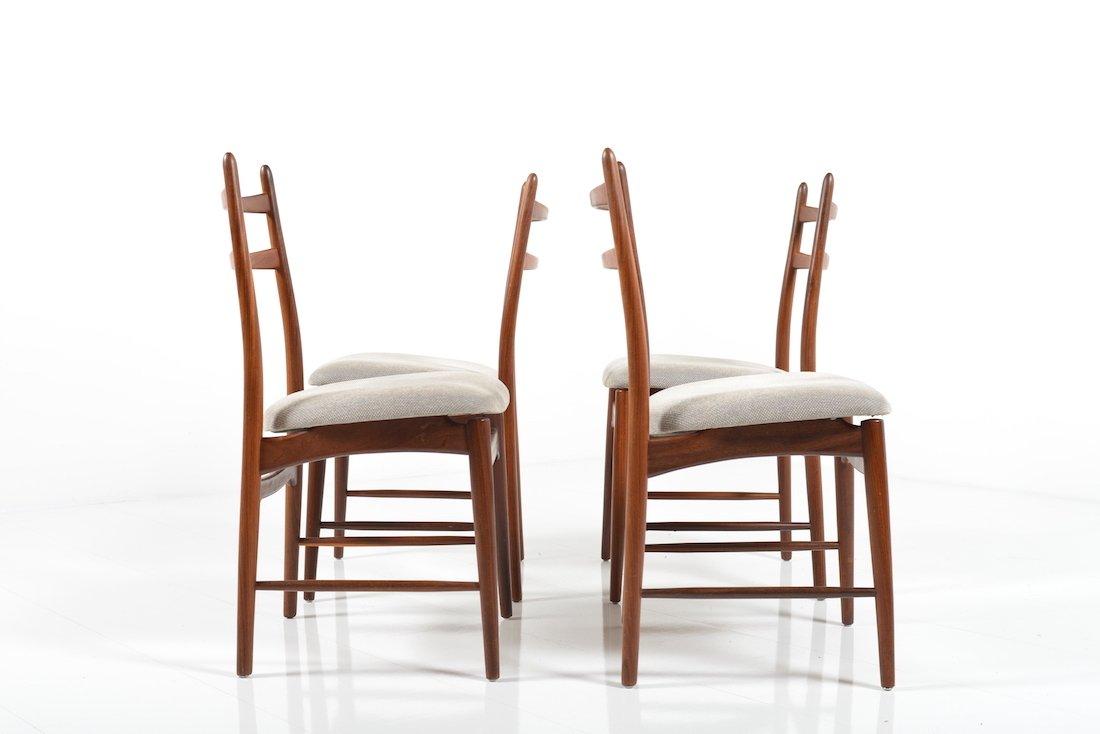 Mid Century Danish Teak Dining Chairs Set Of 4