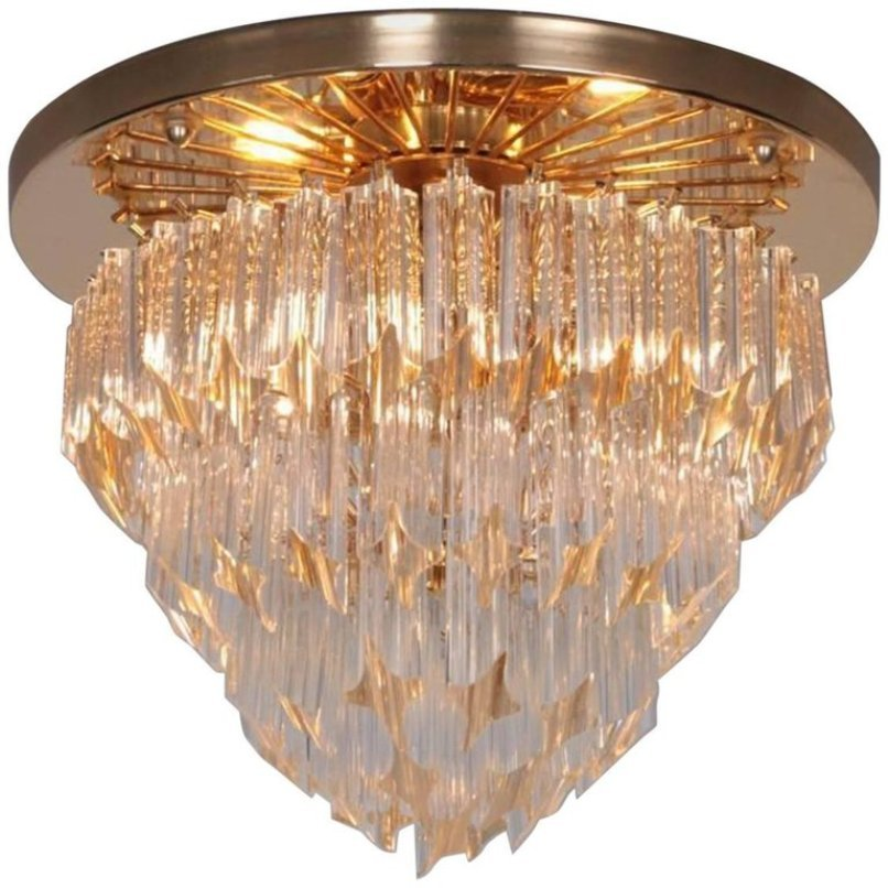 Italian Four Tiered Astra Quadrilobo Murano Glass Chandelier From Venini 1960s For Sale At Pamono