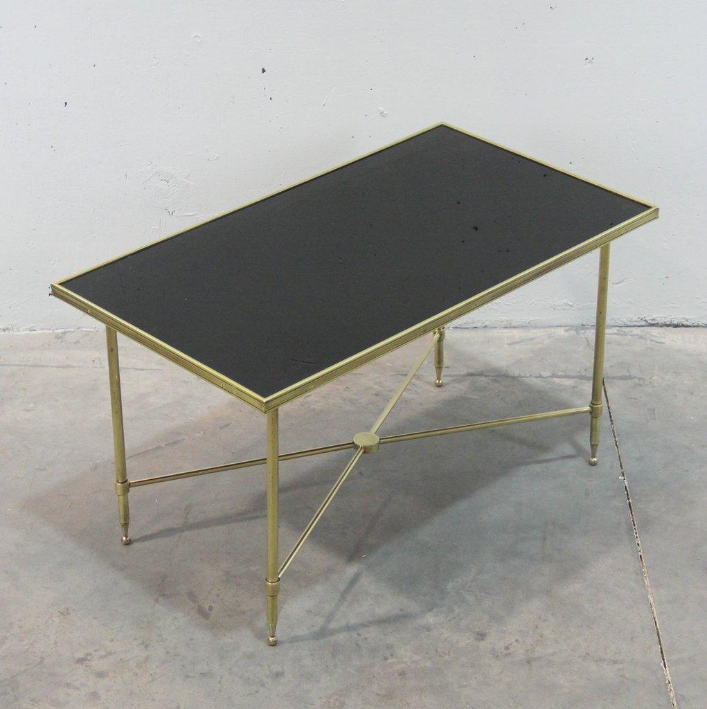 franz sischer messing und schwarzer glas couchtisch. Black Bedroom Furniture Sets. Home Design Ideas