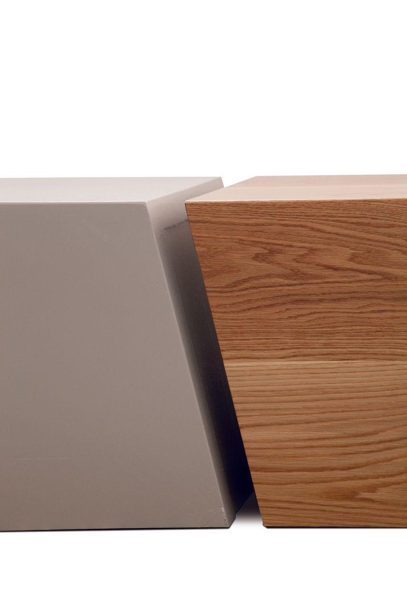 composition couchtisch aus holz mit beigen lack von maria. Black Bedroom Furniture Sets. Home Design Ideas