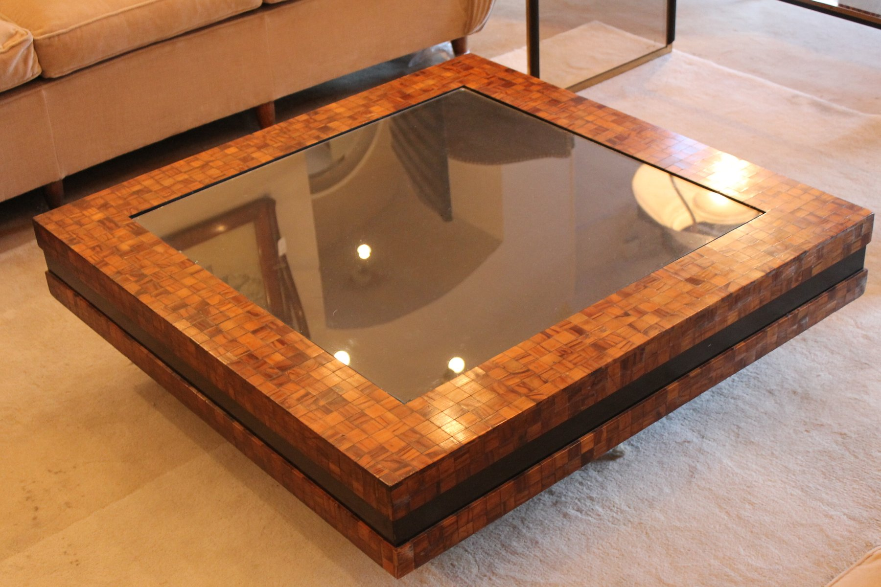 Low italian coffee table 1970 for sale at pamono for Italian coffee table