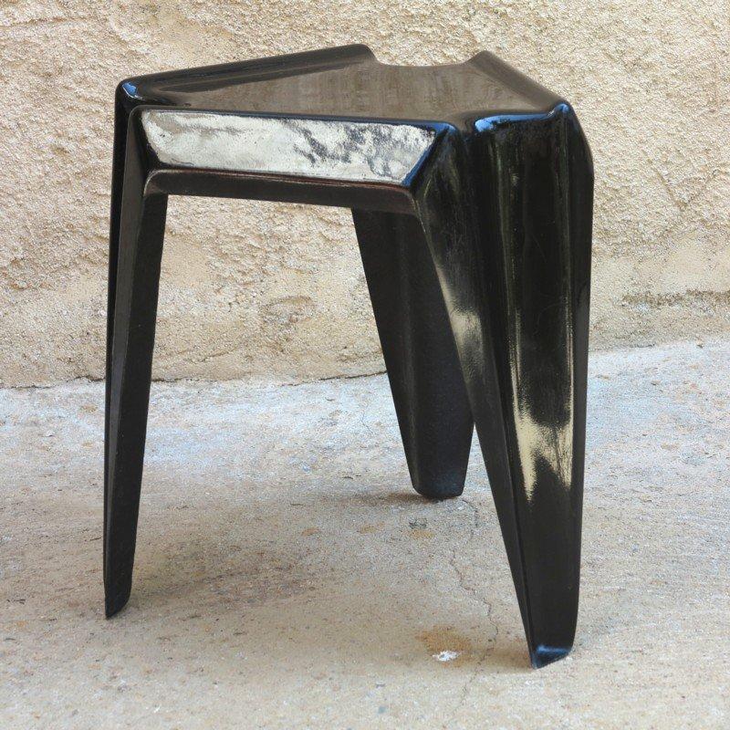 schwarzer vintage kunststoff tisch von helmut b tzner f r bofinger 1960er bei pamono kaufen. Black Bedroom Furniture Sets. Home Design Ideas