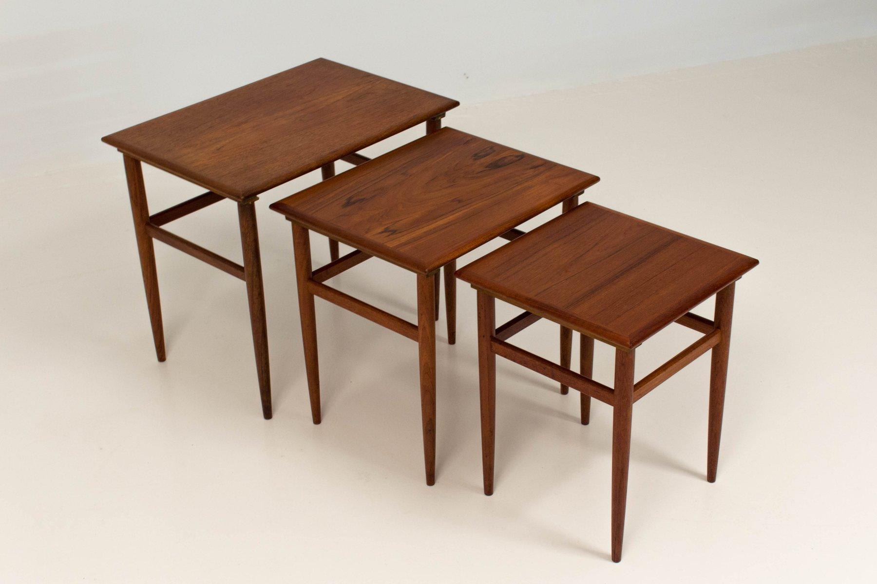 Beautiful Mid Century Modern Danish Nesting Tables, 1960s