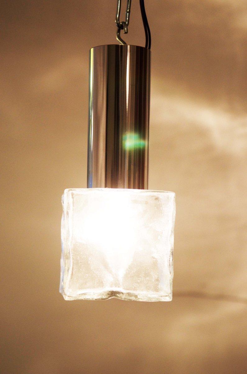 vintage wandlampe aus glas und stahl von j t kalmar bei. Black Bedroom Furniture Sets. Home Design Ideas