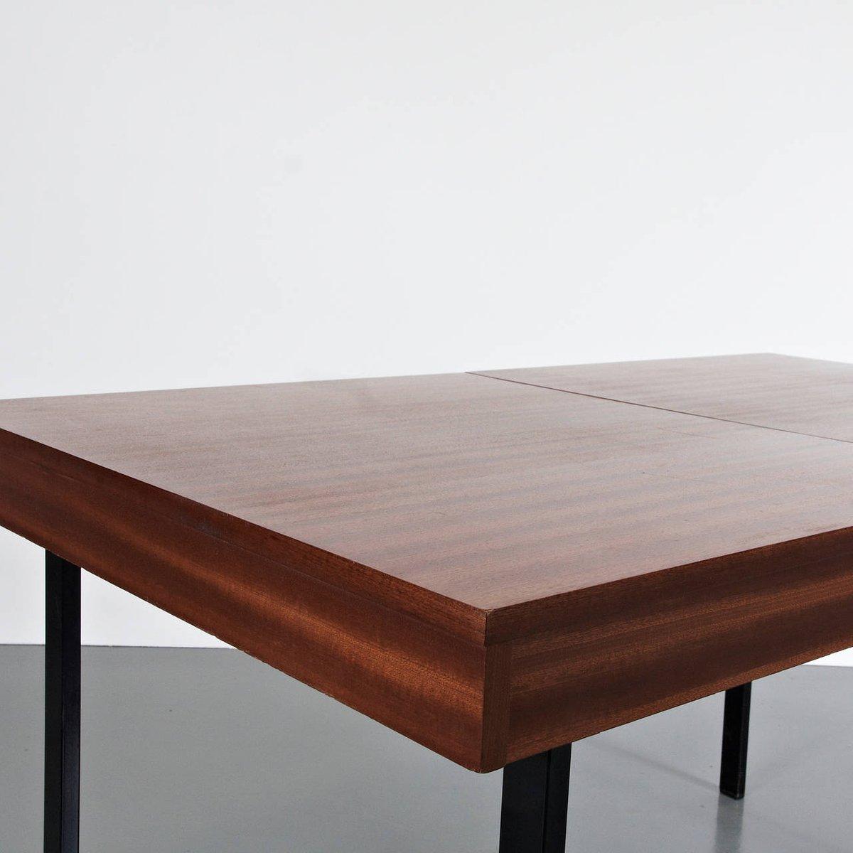 Tavolo da pranzo allungabile in legno e ferro di Pierre Guariche ...
