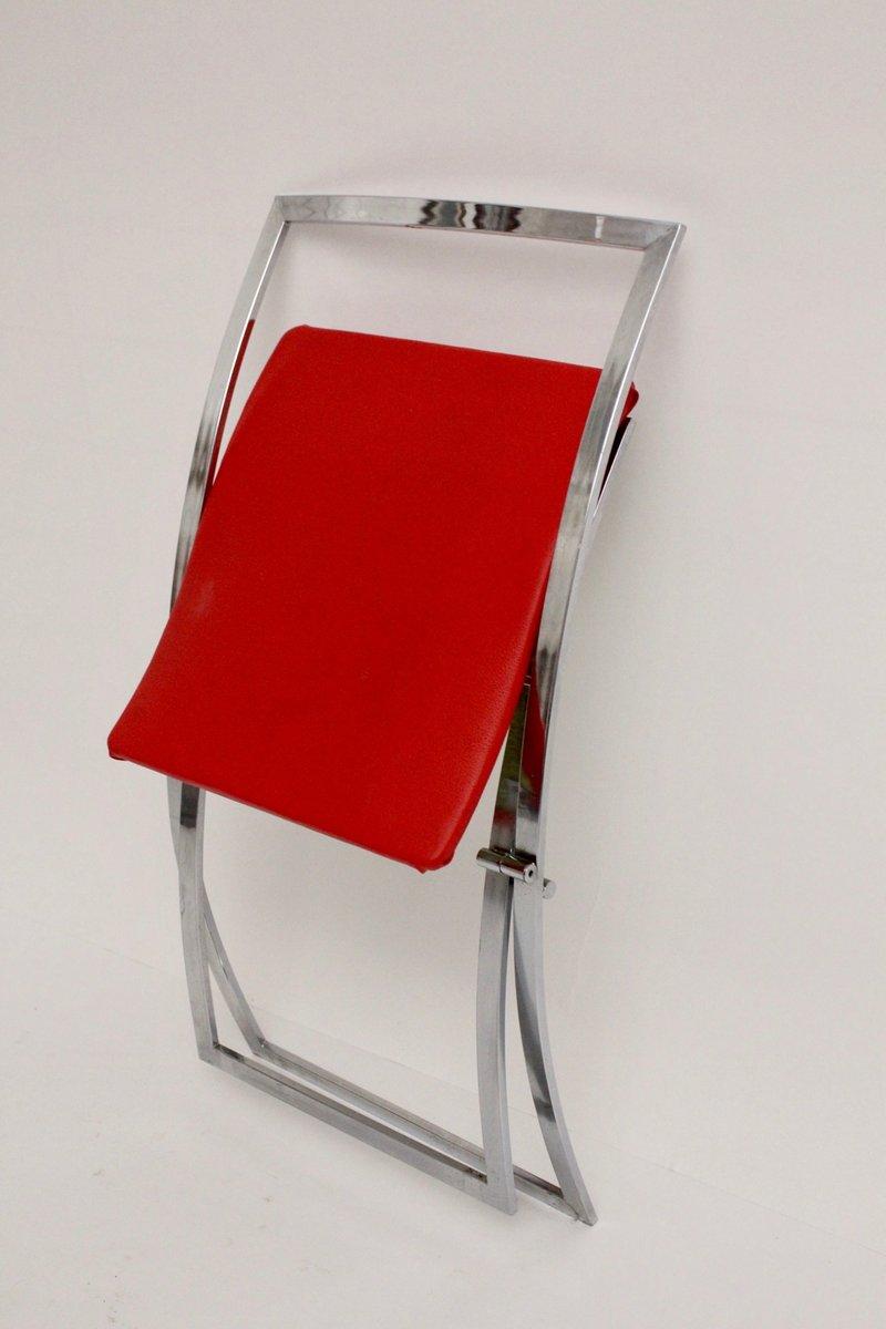 luisa klappst hle in rot schwarz von marcello cuneo f r mobel 1970er bei pamono kaufen. Black Bedroom Furniture Sets. Home Design Ideas