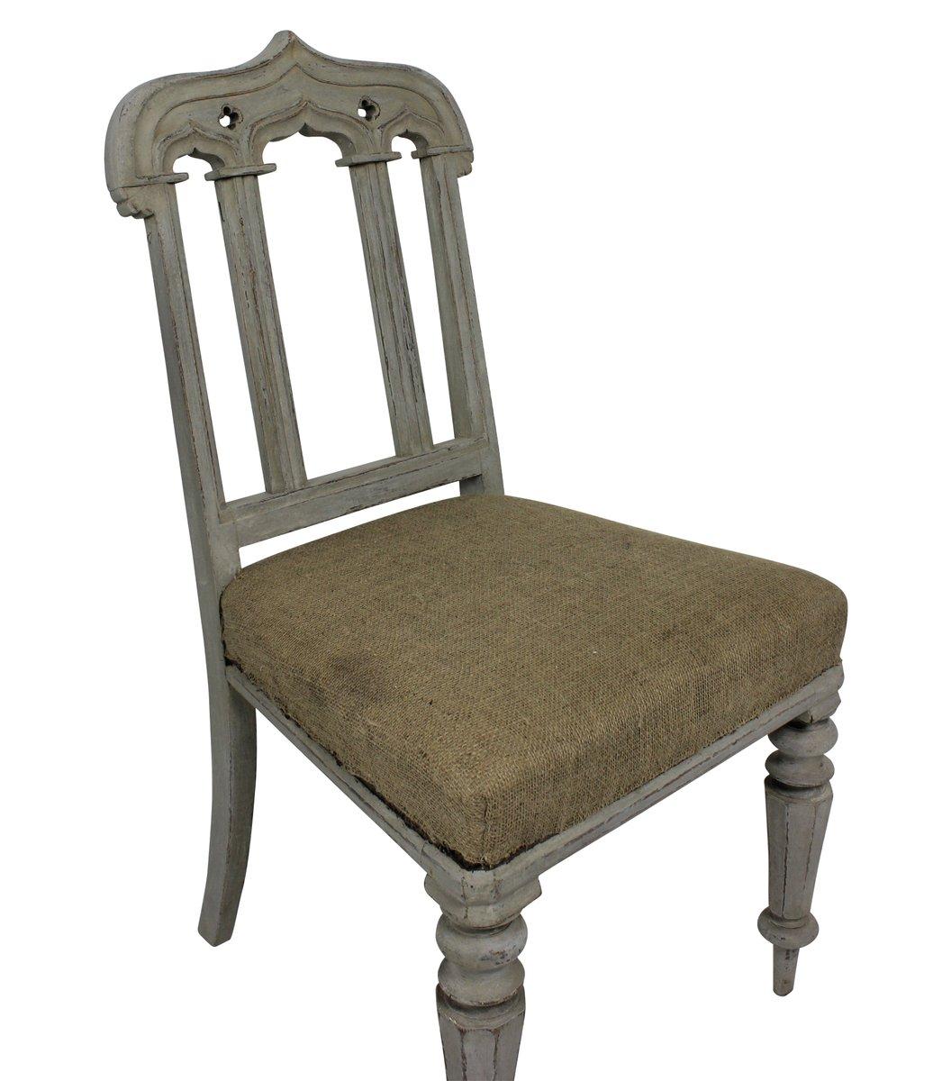 antike lackierte englische gothik st hle 1860er 2er set. Black Bedroom Furniture Sets. Home Design Ideas