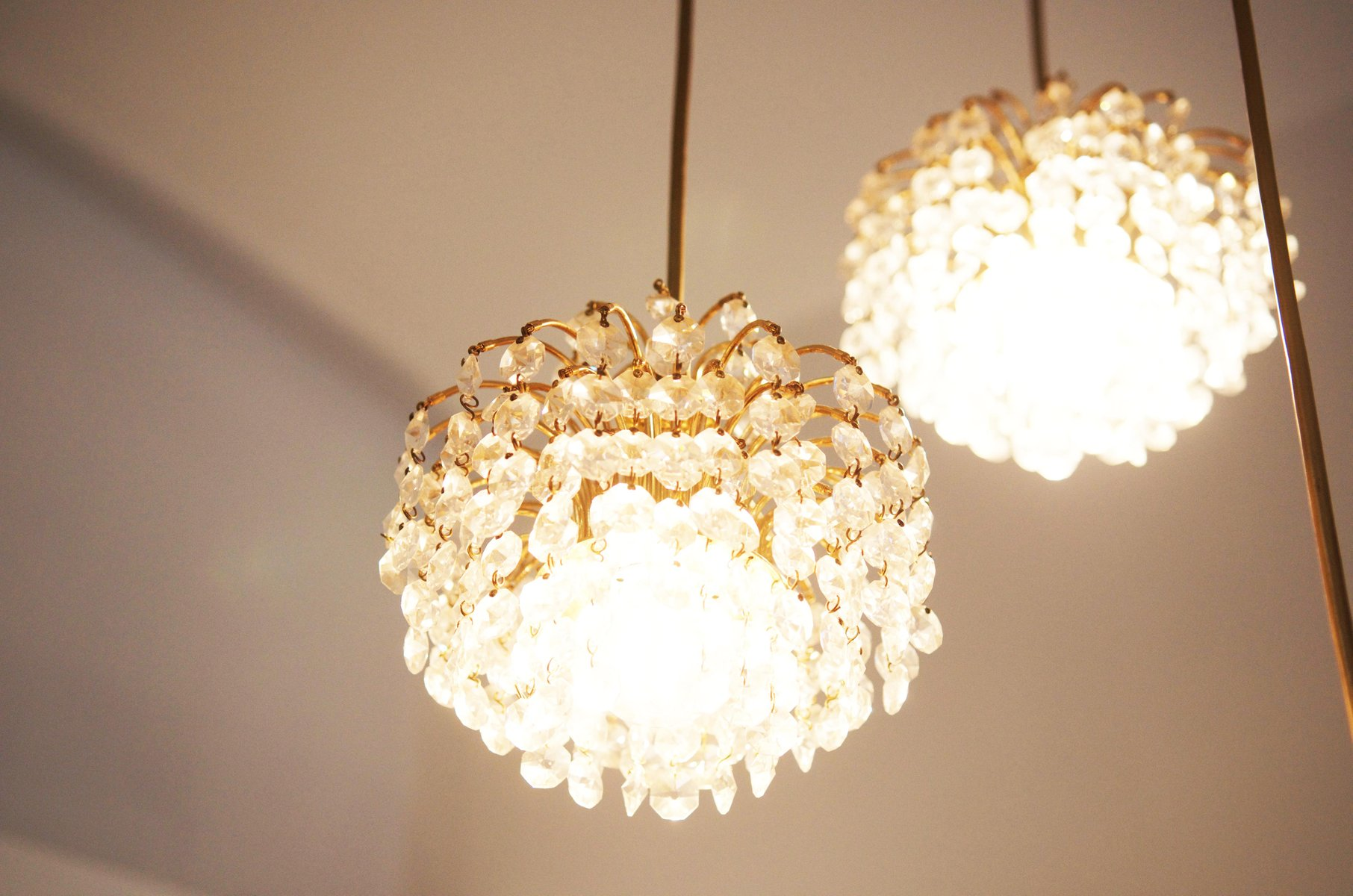 Austrian Cut Crystal Cascading Chandelier for sale at Pamono