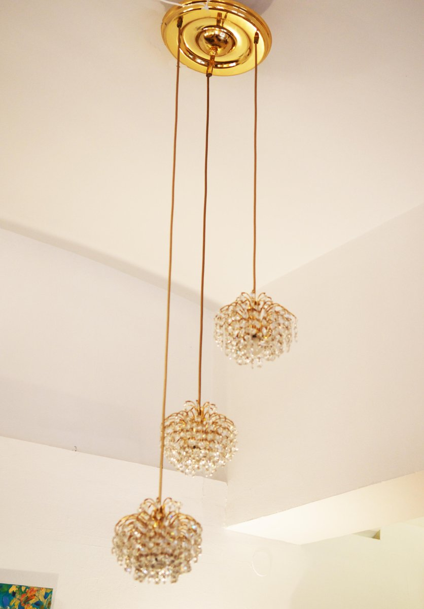 Austrian cut crystal cascading chandelier for sale at pamono arubaitofo Gallery